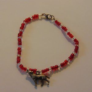 Wolf and Bead Bracelet from Greece